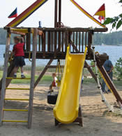 children playing on play structure